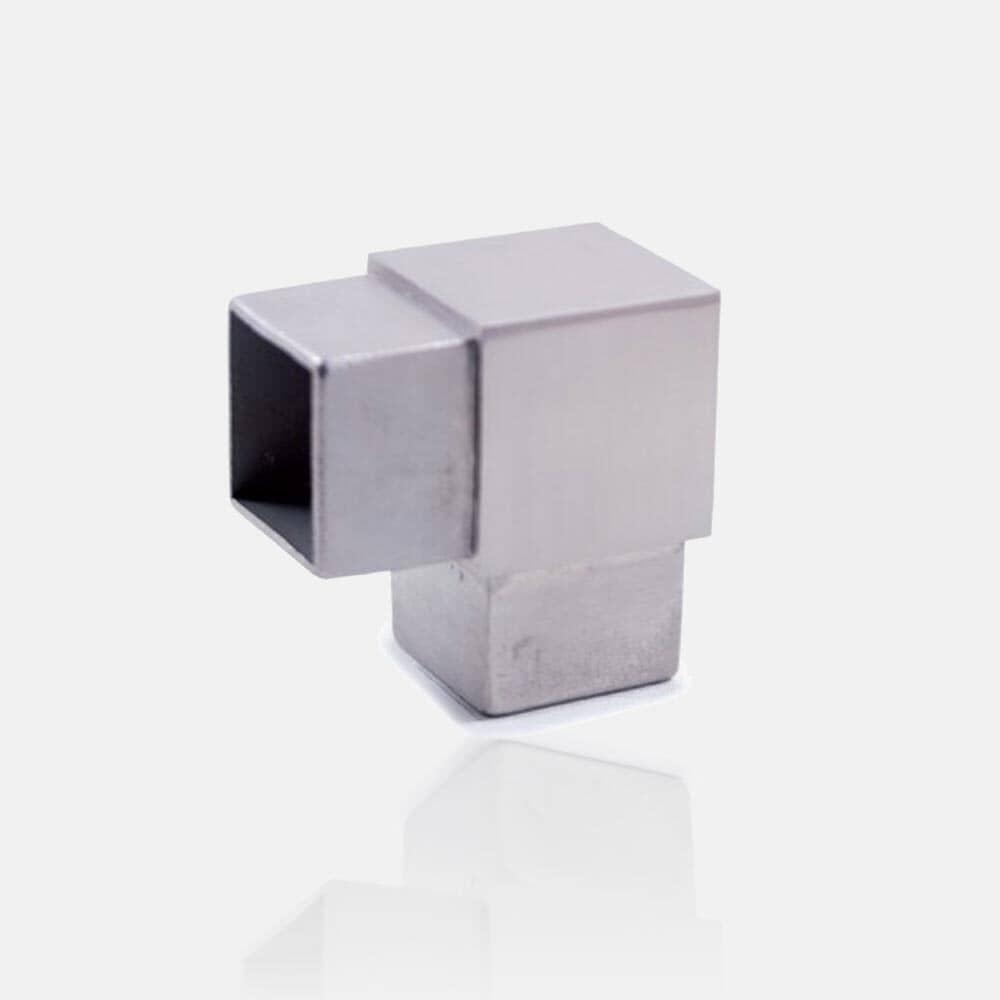 Coude inox à 90° carré