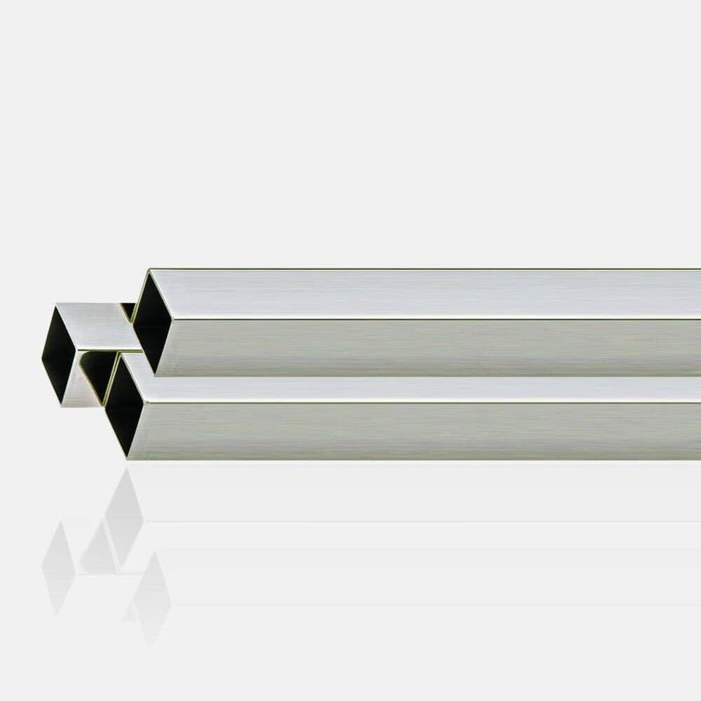Tube carré inox 316 brosse 40x40 mm