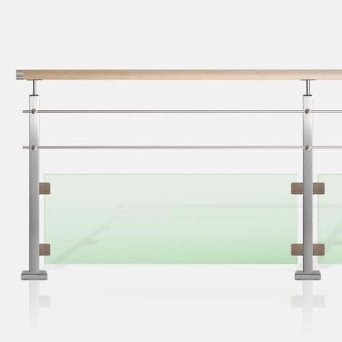 Kit 2 lisses et verre tube carré