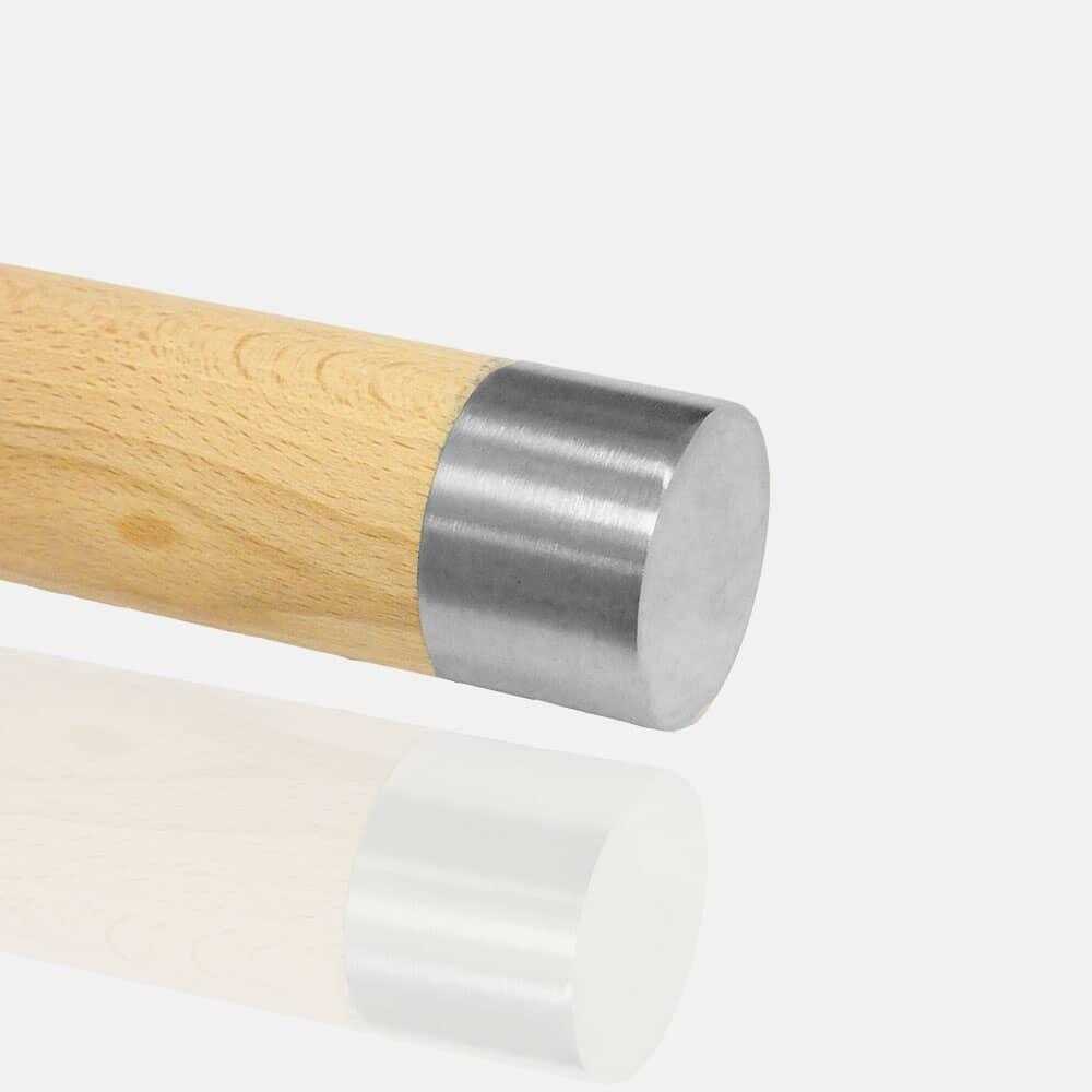 Embout plat inox pour bois, Embout à frapper, bouchon inox, terminaison bois, capuchon inox, plat, droit