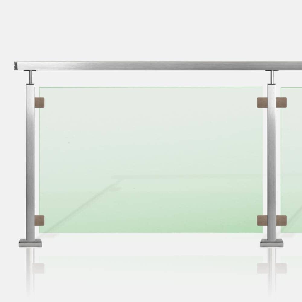 Rambarde verre inox et tube inox carré