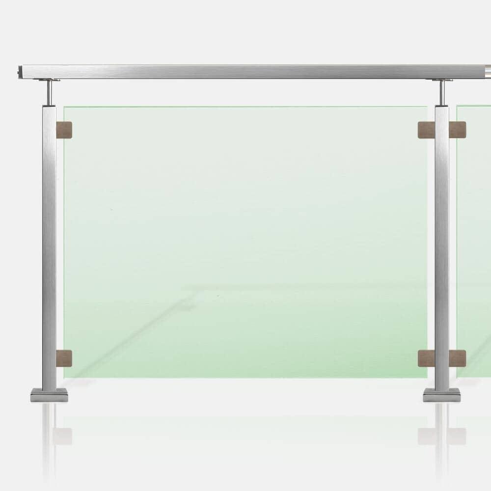 Barrière piscine inox et verre tube carré