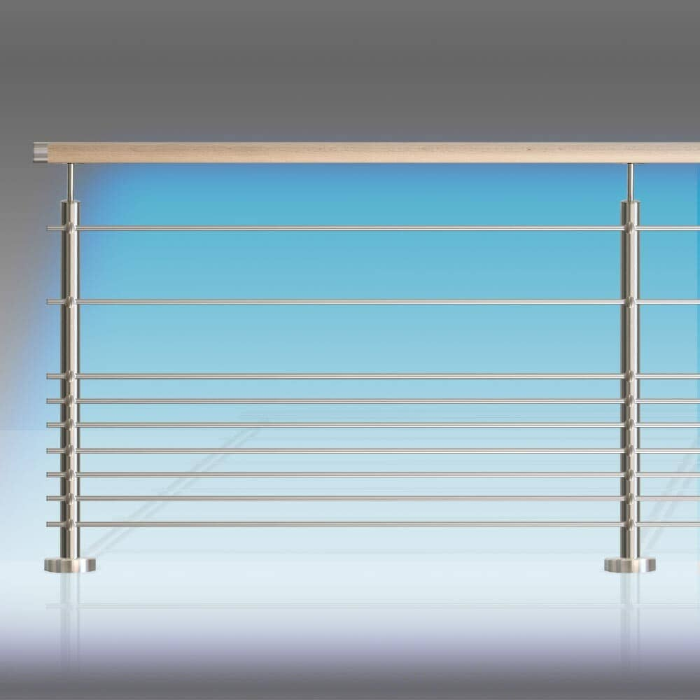 Kit balustrade 9 tubes inox et leds