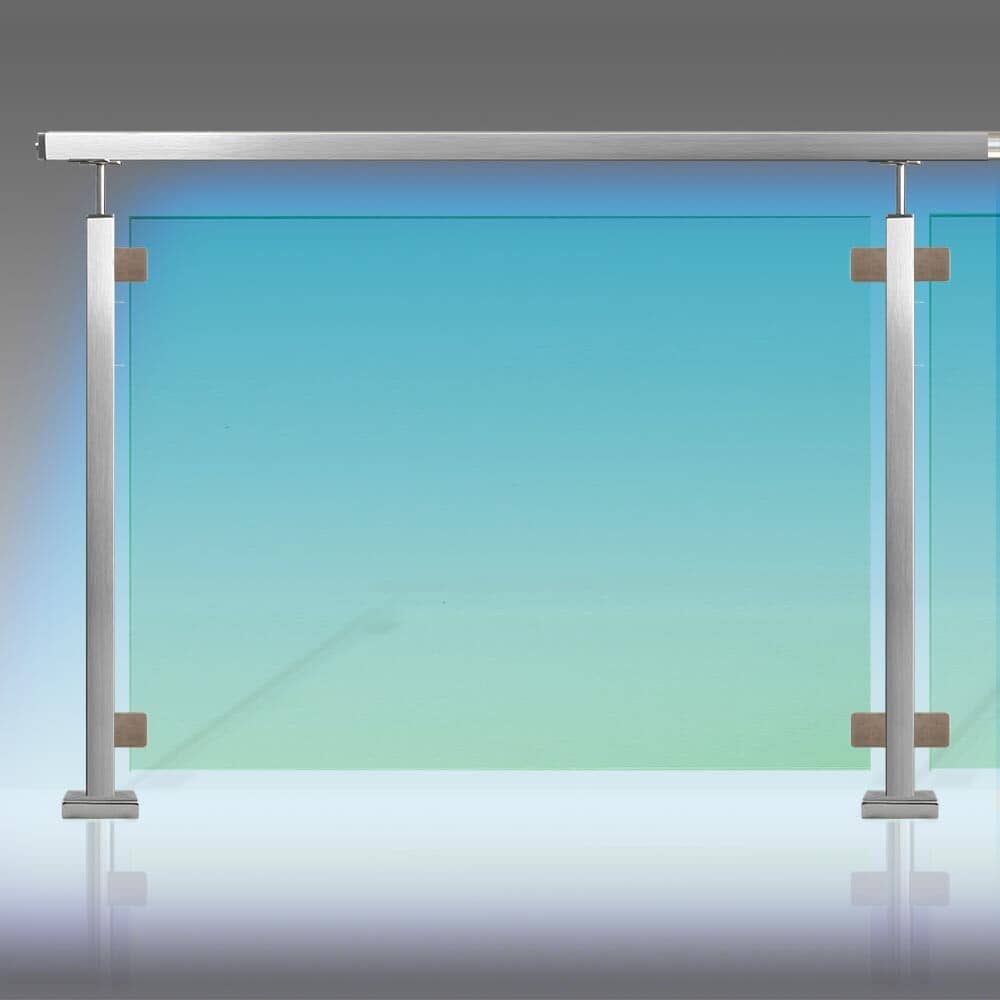 Kit barrière piscine inox à leds étanche IP 65 tube inox carré