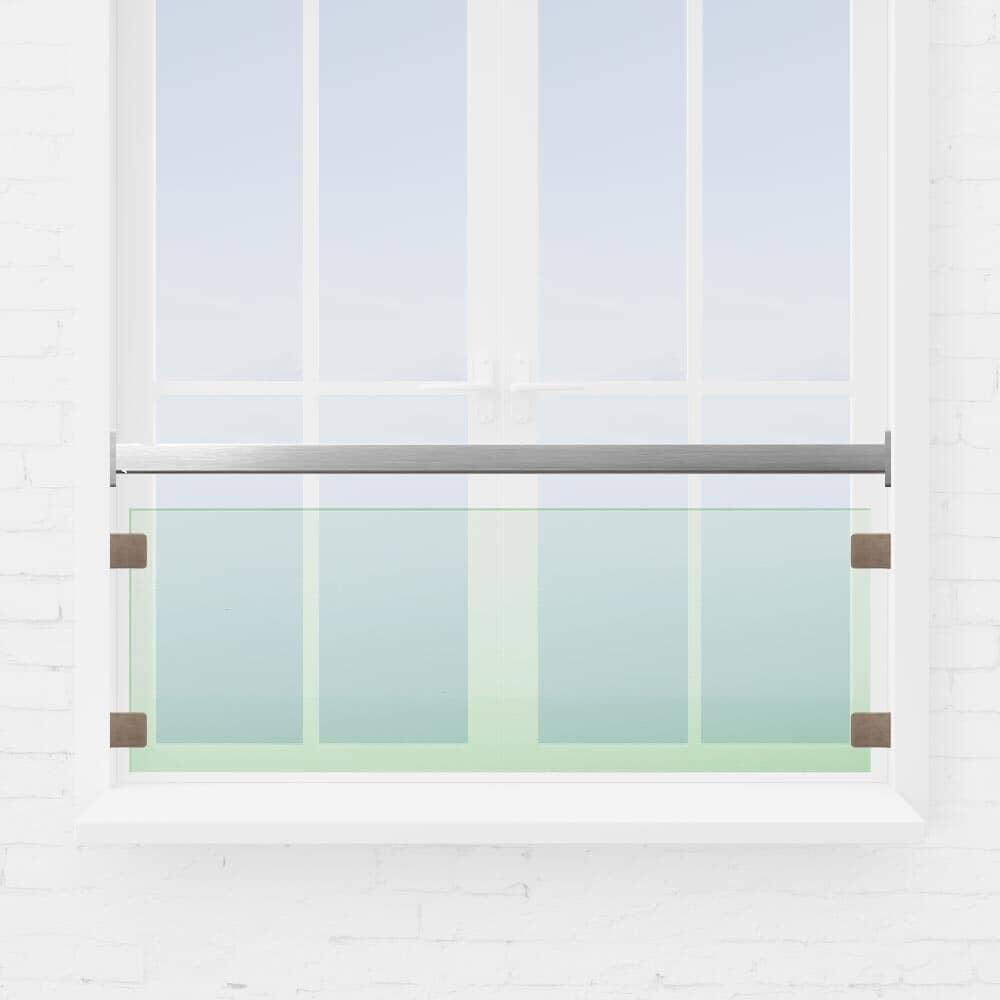 Kit barre appui de fenêtre verre tube inox carré