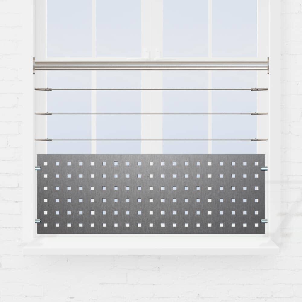 Kit balustrade fenêtre câbles et tôle