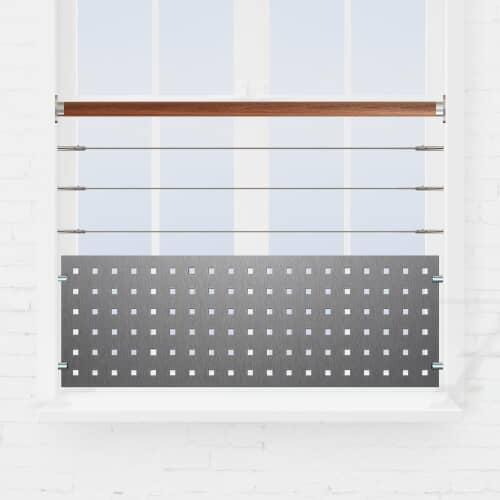 Kit garde-corps fenêtre câbles + tôle