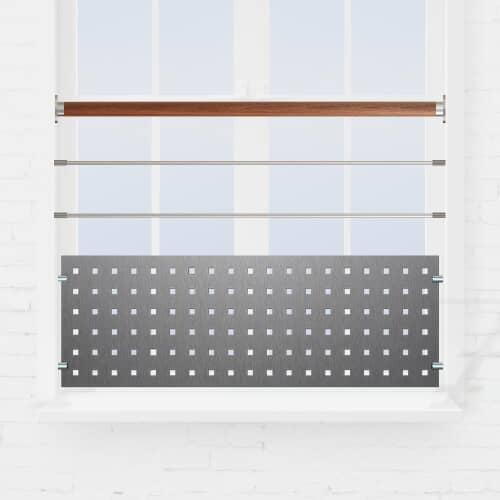 Kit garde-corps fenêtre lisses + tôle