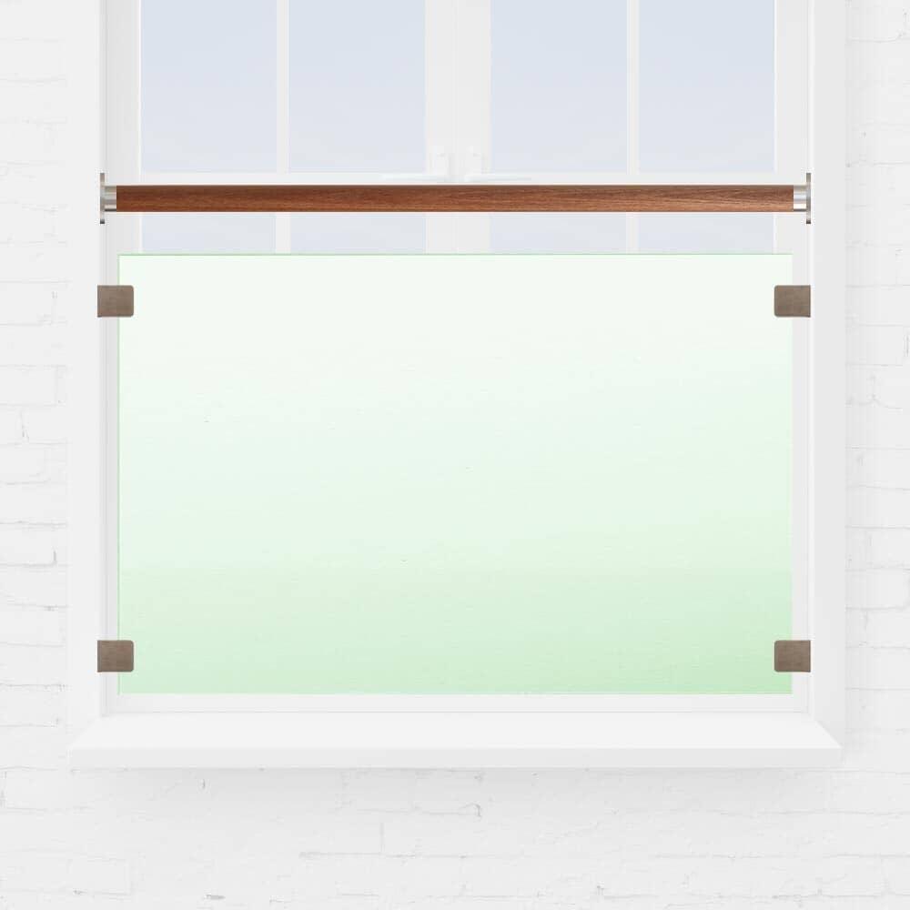 Kit balustrade fenêtre verre main courante bois exotique