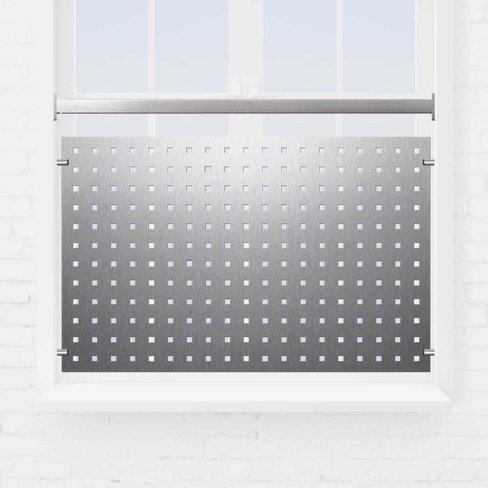 Kit rambarde fenêtre tôle perforée tube carré