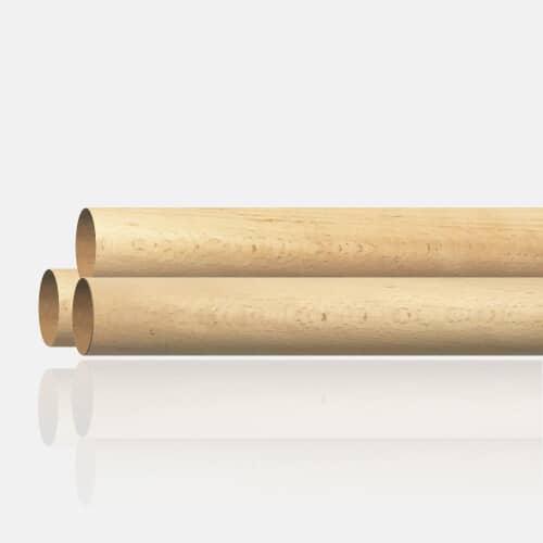 Main courante bois de hêtre 42mm