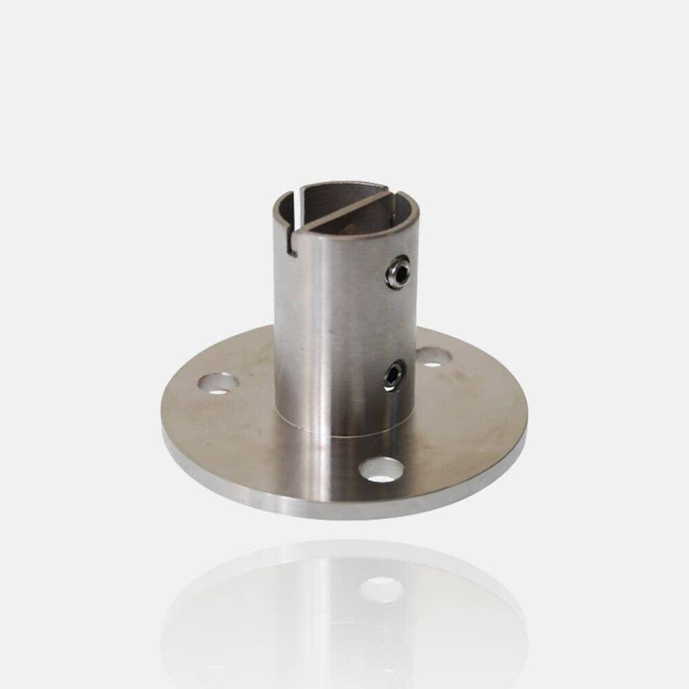 Platine inox ronde à la Française Ø100mm