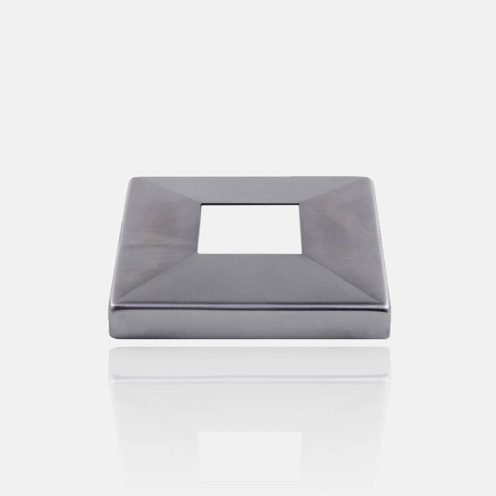 Cache platine inox carré 304 ou 316 brossé, poli miroir
