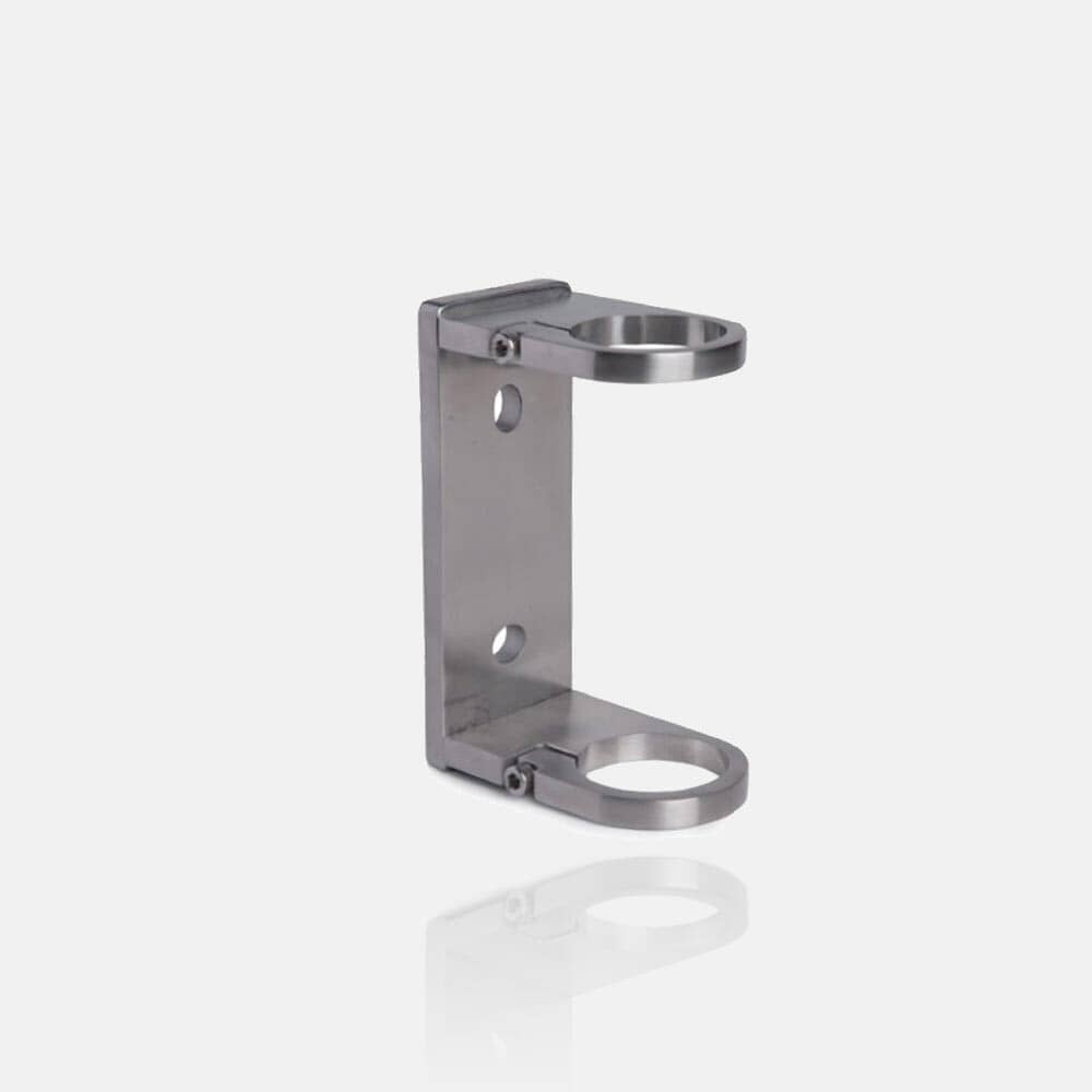 Platine inox rectangle anglaise ajustable à serrer