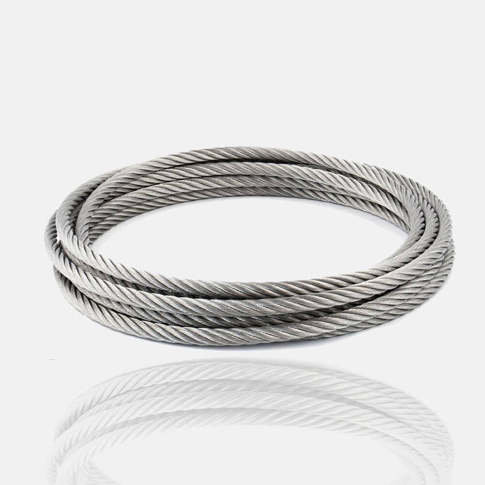 Câble inox 4mm Bobine 50 m fil inox, corde, cordage inox, filin, rouleau, bobine, touret 50m