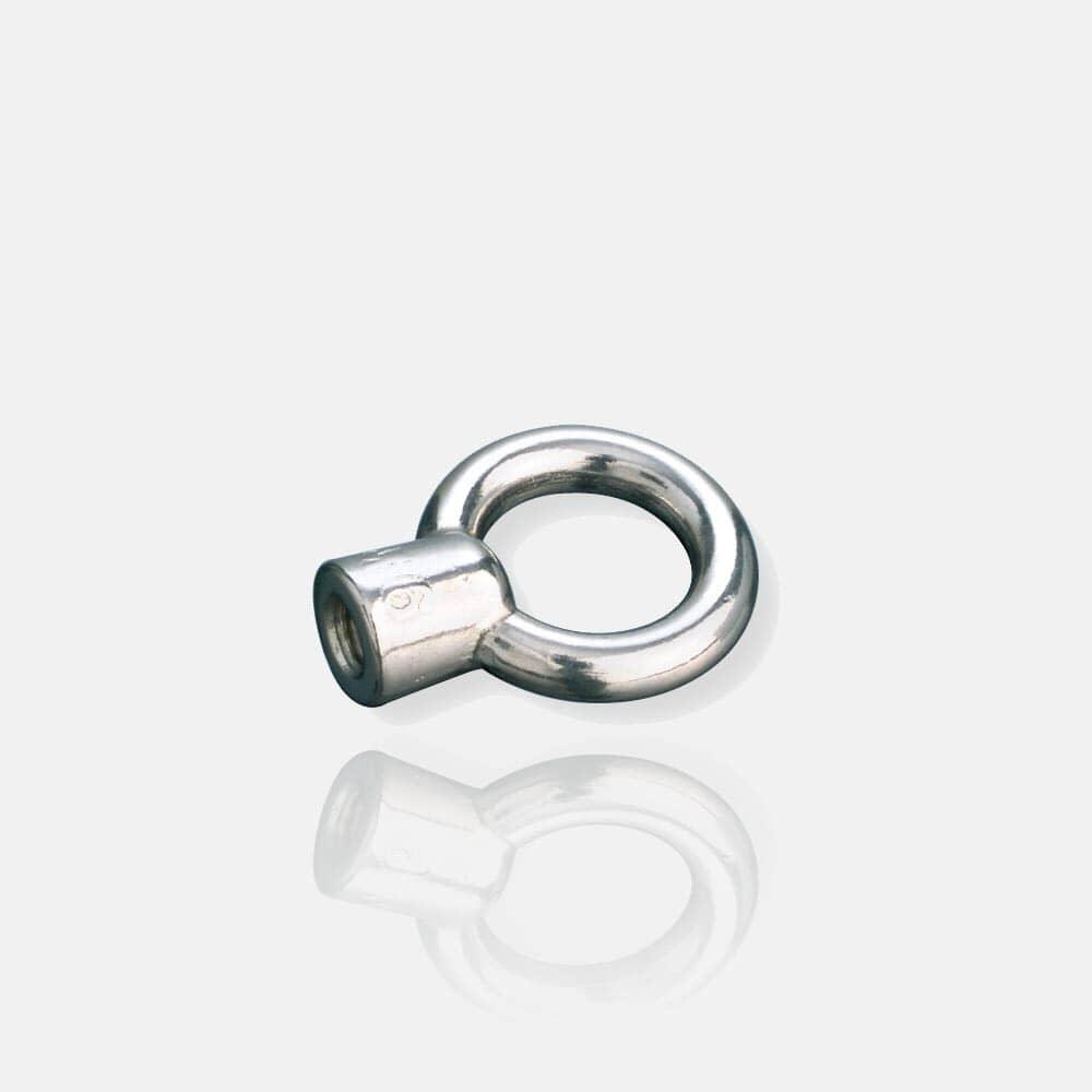 Anneau inox piton métrique femelle, anneau levage, vis à anneau, écrou à anneau, bague inox, saisissage
