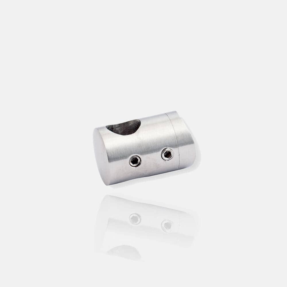 Support de lisses inox pour poteau rond, transversal, de tube, adaptateur, raccord.