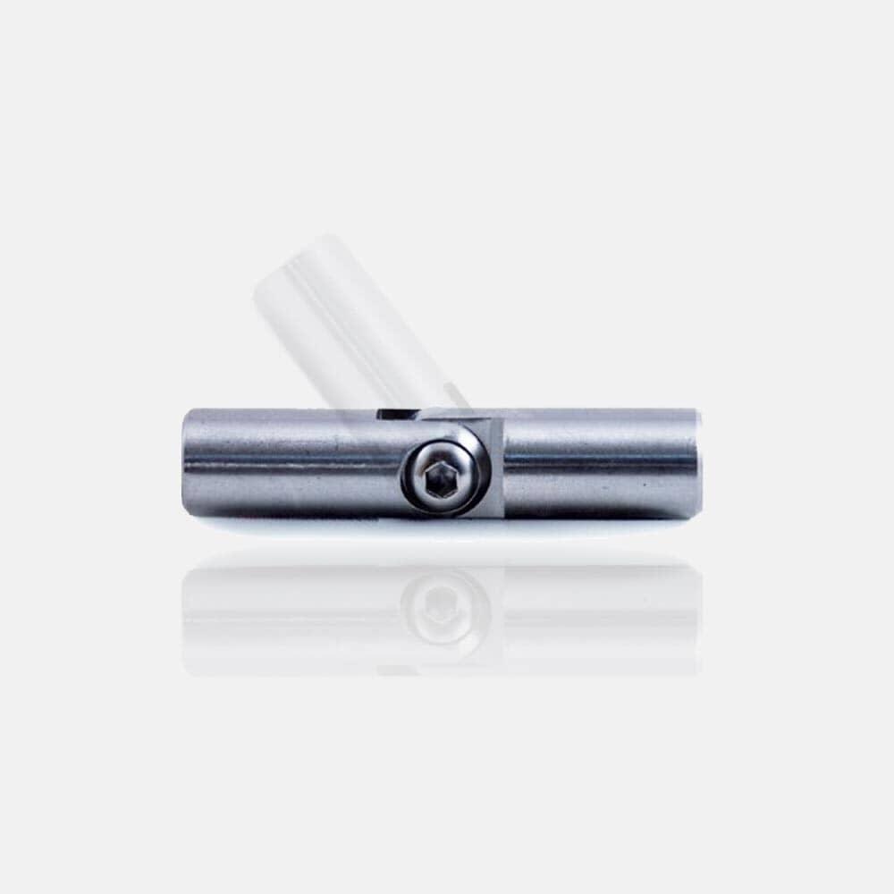 Raccord de lisses, barre, tube inox orientable, prolongateur, coude orientable, angles de lisses