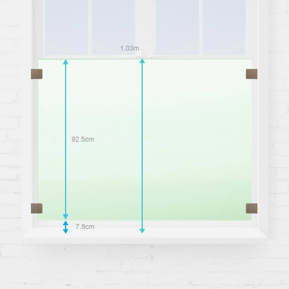 Balustre fenêtre verre