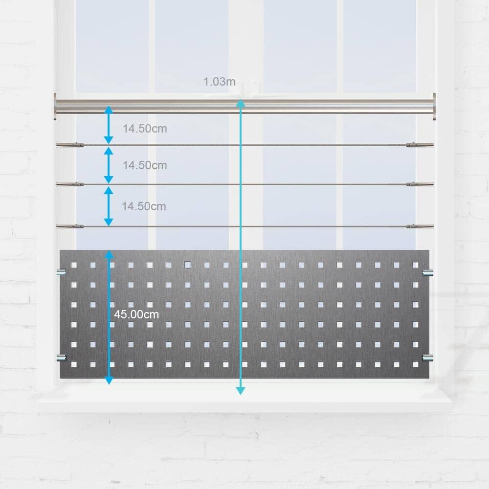 Kit protection fenêtre câbles inox et tôle