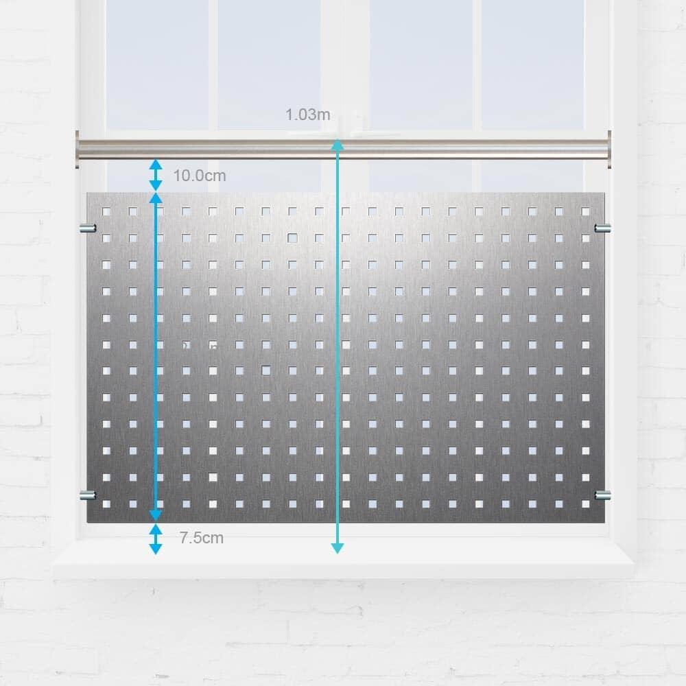 Kit balustre fenêtre tôle perforée