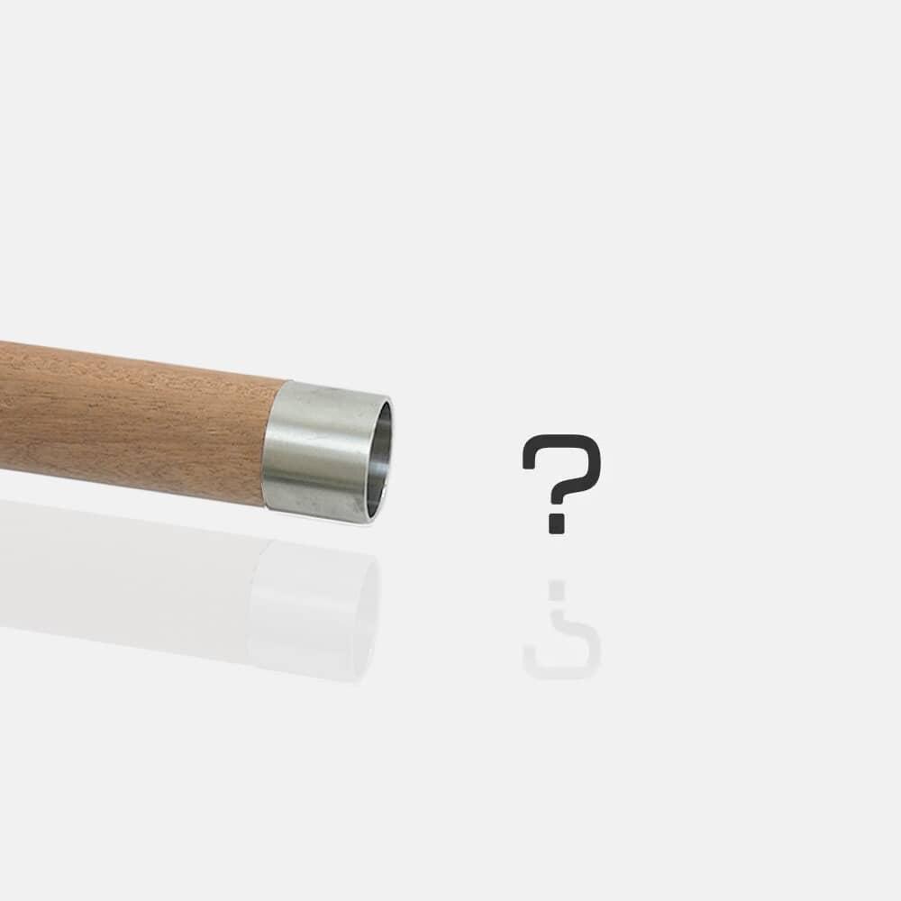 Raccord simple inox pour bois, connecteur de tubes, liaison, jonction bois, prolongateur, fourreau, embout, bouchon inox