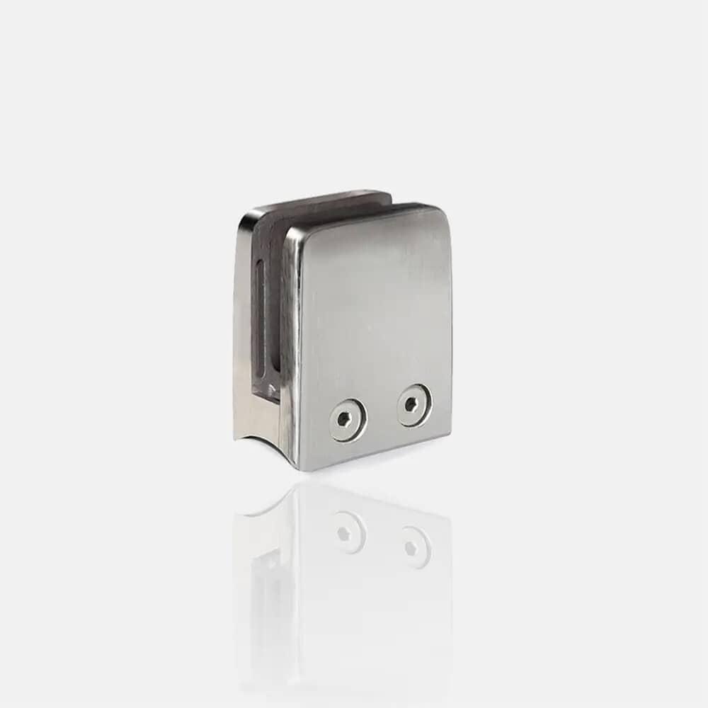 Pince à verre carrée 55x55 pour poteau Ø 42.4mm