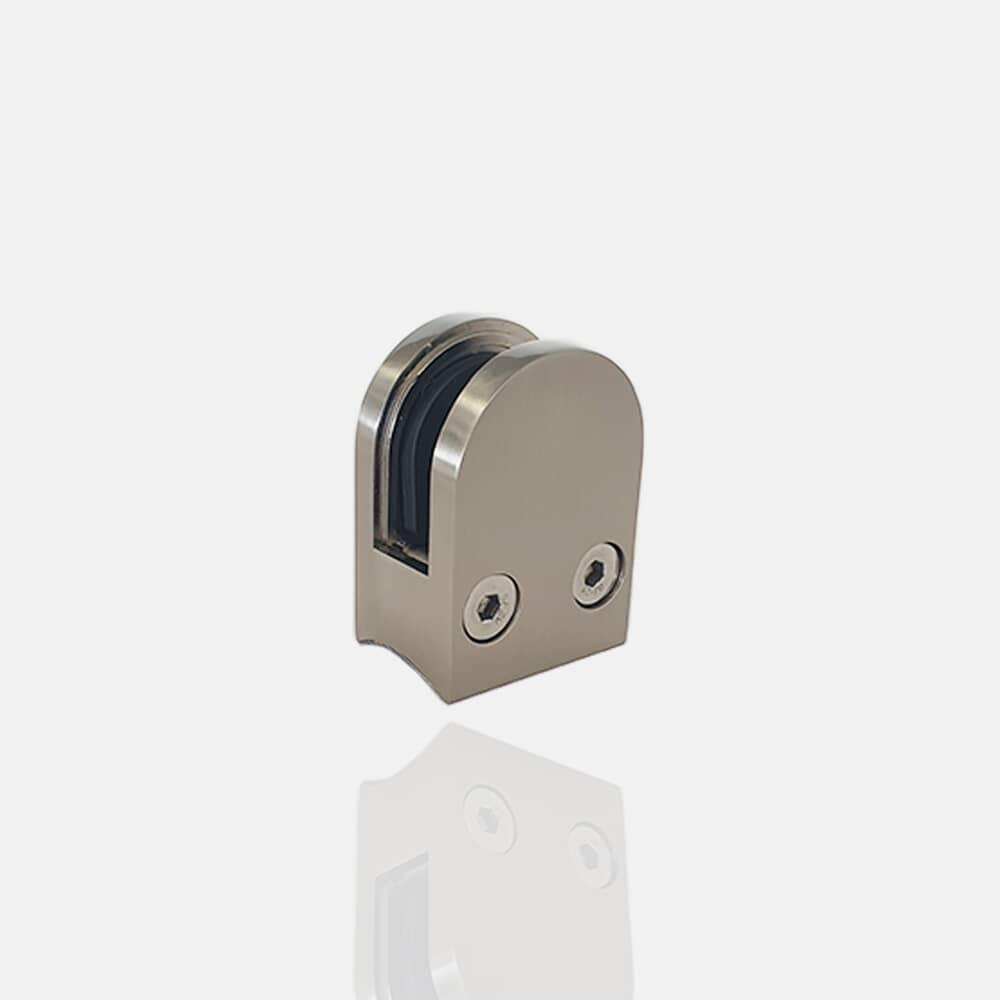 Pince à verre ronde 50x40 pour poteau Ø 42.4mm
