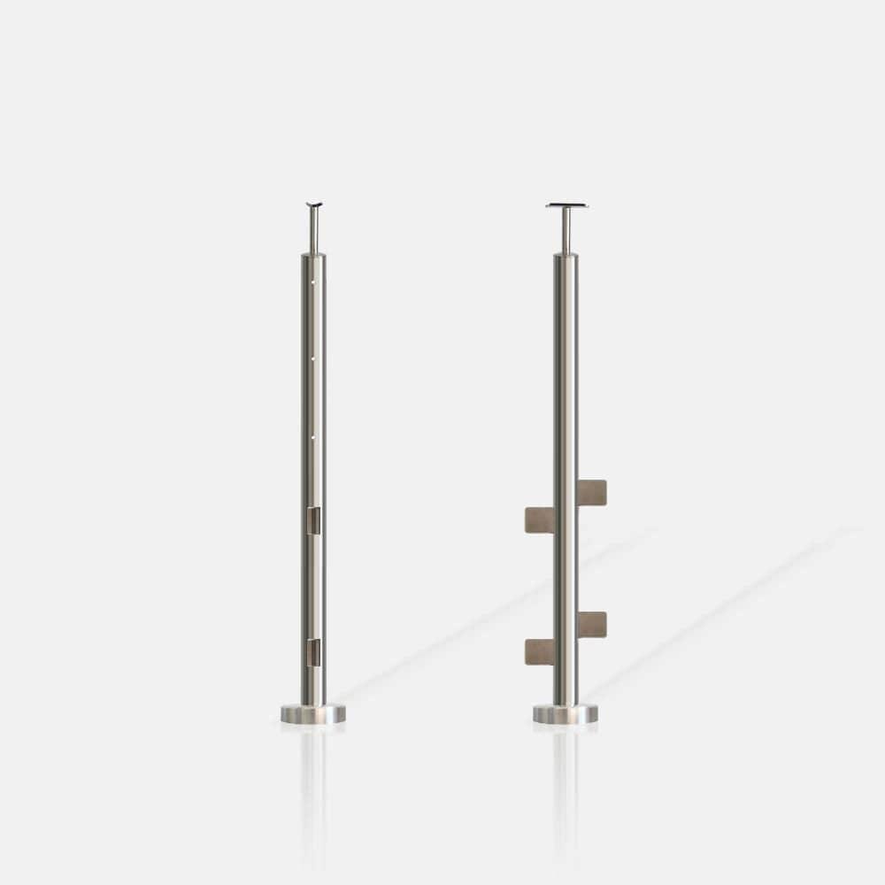 Poteau rond 3 câbles et verre FR inter escalier