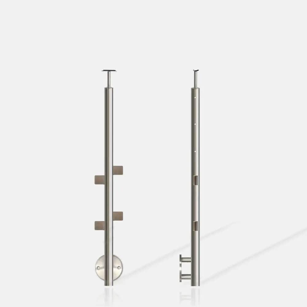 Poteau rond 3 câbles et verre ANG inter escalier