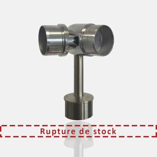 Support main courante orientable