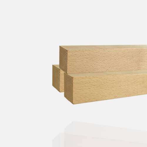 Main-courante carrée en bois de hêtre