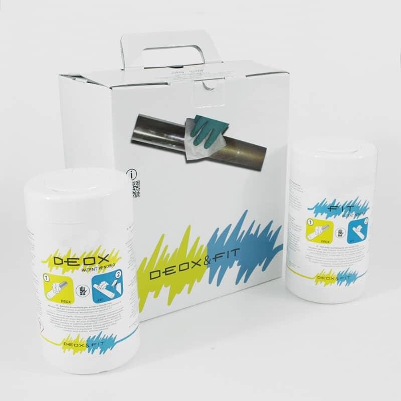 DEOX & FIT Lingettes desoxydantes, repassivantes pour inox, antirouille