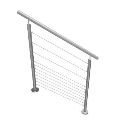 Kit garde-corps escalier à câbles
