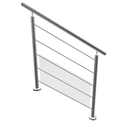 Kit garde-corps escalier à lisses