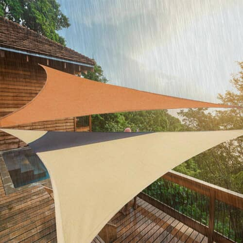 voile d 39 ombrage triangulaire tanche. Black Bedroom Furniture Sets. Home Design Ideas