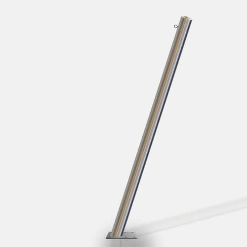 poteau inclin pour voile d 39 ombrage. Black Bedroom Furniture Sets. Home Design Ideas